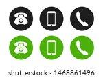 set of phone  handset ... | Shutterstock .eps vector #1468861496
