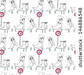 seamless pattern with shoes for ... | Shutterstock . vector #146886548