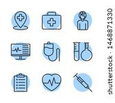 medical assistance related line ... | Shutterstock .eps vector #1468871330