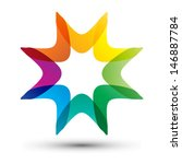 Colorful Star Shape  Business...