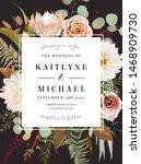 square floral label dark frame... | Shutterstock .eps vector #1468909730