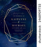magic night dark blue card with ... | Shutterstock .eps vector #1468909733