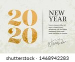 new year 2020 greeting card... | Shutterstock .eps vector #1468942283