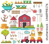 farm elements with tools garden ...   Shutterstock .eps vector #1468998176