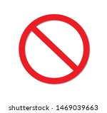 red stop sign isolated on white ...   Shutterstock . vector #1469039663