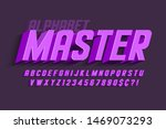 condensed 3d display font... | Shutterstock .eps vector #1469073293