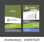 vector business card set ... | Shutterstock .eps vector #146907629