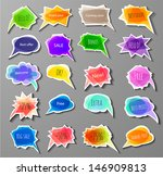 big set of colorful paper cut... | Shutterstock .eps vector #146909813