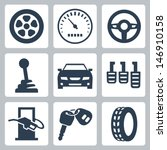 vector isolated auto icons set | Shutterstock .eps vector #146910158