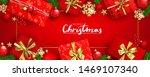 red horizontal christmas banner ... | Shutterstock .eps vector #1469107340