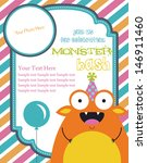 monster party invitation card... | Shutterstock .eps vector #146911460