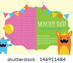 monster party invitation card... | Shutterstock .eps vector #146911484