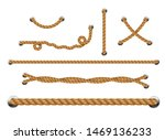 set of looped ropes with metal... | Shutterstock .eps vector #1469136233