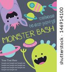monster party card design.... | Shutterstock .eps vector #146914100