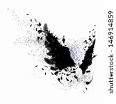 abstract image of black wings... | Shutterstock . vector #146914859