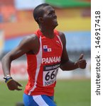 Small photo of DONETSK, UKRAINE - JULY 12: Arturo Deliser of Panama competes in 200 metres during 8th IAAF World Youth Championships in Donetsk, Ukraine on July 12, 2013