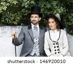 a loving couple  dressed in... | Shutterstock . vector #146920010