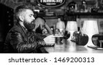 hipster relaxing at pub. guy... | Shutterstock . vector #1469200313