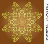 floral mandala decorative... | Shutterstock .eps vector #1469211419