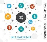 biohacking trendy web concept...