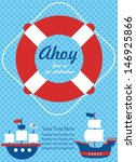 Ahoy Party Invitation Card....
