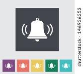 bell flat icon. vector... | Shutterstock .eps vector #146926253