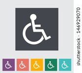 Disabled Flat Single Icon....