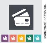 Credit Card Flat Single Icon....