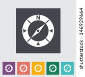 compass flat icon. vector... | Shutterstock .eps vector #146929664
