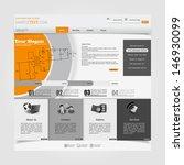 website design template with...   Shutterstock .eps vector #146930099