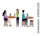 elegant business people working ...   Shutterstock .eps vector #1469321120