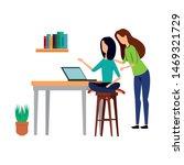 elegant businesswomen workers... | Shutterstock .eps vector #1469321729