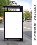 blank sign at bus stop for your ... | Shutterstock . vector #146932316