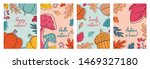 autumn postcards with leaves ... | Shutterstock .eps vector #1469327180