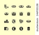 coin icons | Shutterstock .eps vector #146933138