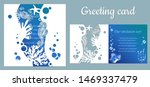 template for making a postcard. ... | Shutterstock .eps vector #1469337479