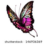 watercolor butterfly on a white | Shutterstock . vector #146936369