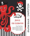 pirate party invitation card... | Shutterstock .eps vector #146937224