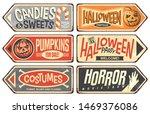 halloween events retro signs... | Shutterstock .eps vector #1469376086