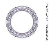 decorative round frame design...   Shutterstock .eps vector #1469408753