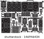 vector black and white tape... | Shutterstock .eps vector #146946434