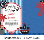pirate party invitation card... | Shutterstock .eps vector #146946638
