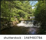 Stock photo stages of small cascades along hickory run 1469483786