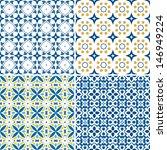 set of four seamless pattern... | Shutterstock .eps vector #146949224