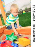 little boy playing in the... | Shutterstock . vector #146949278