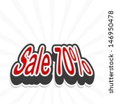 sale tag. vector  | Shutterstock .eps vector #146950478