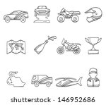 rally icons in sketch | Shutterstock .eps vector #146952686