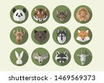 classic flat icon animals full... | Shutterstock .eps vector #1469569373