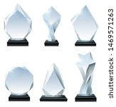 glass trophy award. acrylic... | Shutterstock .eps vector #1469571263