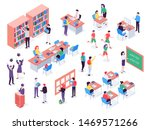 isometric school. childrens and ... | Shutterstock .eps vector #1469571266
